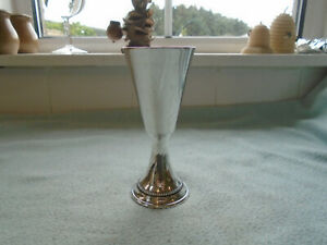Rare Silver Plated Goblet Made In Wales Makers Mark JMC to the base