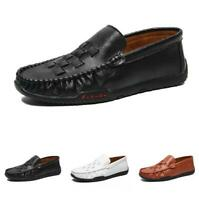 Mens Driving Moccasins Faux Leather Shoes Pumps Slip on Loafers Soft Comfy New B