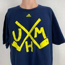 Adidas Michigan Wolverines Hockey Team T Shirt NCAA College University Size XL