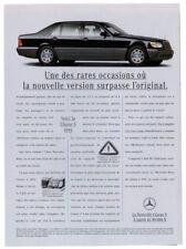 1995 MERCEDES S Class Vintage Original Print AD - Black 4-door car photo Canada
