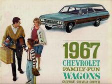 Chevrolet Station Wagons 1967 USA Brochure Chevy II Chevelle Impala Caprice