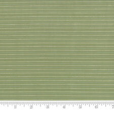 Moda Fabric Snowfall Wovens Stripe Garland Green - Per 1/4 Metre
