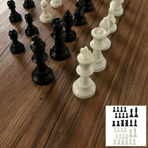 A Full Set of 32 Medieval Chess Pieces Lightweight Plastic Chess Set 65mm/75mm