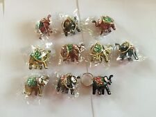 Fifty (50) Indian Had Pained Elephant Key rings/ Key Chains Christmas , Diwali