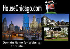 House Chicago .com Domain Name For Sale Realtors Sell Houses Home Condo Property