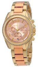 Michael Kors Ladies Blair Rose Dial Two-Tone Chronograph Watch - MK6316