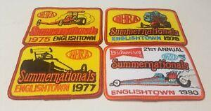 Vintage Englishtown Raceway Park Summernationals patch lot 1975 1977 1978 1990