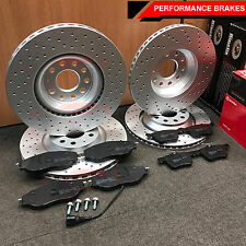 FOR VW GOLF MK7 GTI FRONT REAR DRILLED PERFORMANCE BRAKE DISCS BREMBO BRAKE PADS