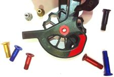 Aluminium M5x15 Switch Roll Screw Aluminium Jockey Wheel Bicycle Tuning Bolt Red