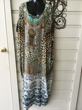 Camilla Long Round Neck Kaftan, 'Roar of the Court', O/S, Perfect Condition