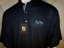 NEW Footjoy XXL Navy Poly/Spandex Golf Shirt Billy Casper Signature Logo