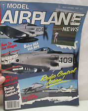 Model Airplane News Magazine October 1987 Balsa USA EAA BIPE Warbird Bash