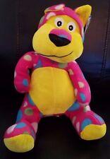 "Kellytoy/Kuddle Me Toys Animal Pals Pink/Multi Color stuffed/plush cat - 13"""