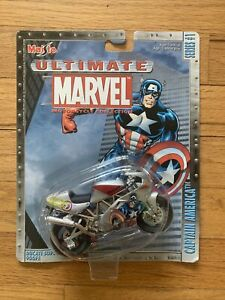 2002 Maisto Ultimate Marvel Motorcycle Collection Series1 Captain America Ducati