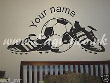 Vinyl wall art FOOTBALL STRIKER SOCCER childs room decal