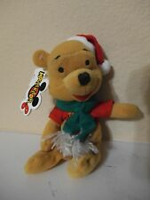 NWT-Disney Mousketoys Mini Bean Bag Plush Winnie The Pooh-X-Mas Christmas Santa