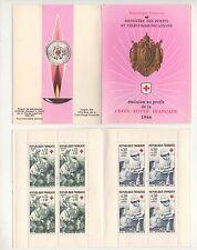 Carnet Croix Rouge N°2015 1966 : Timbres N°1508 + 1509. Ambulancière, Infirmière