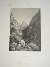 Henry John TERRY GRANDE Litho DINGY SAINT CLAIR ANNECY HAUTE SAVOIE ALPES 1840