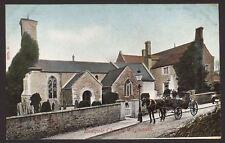 Dorset. Weymouth. Radipole Church. Landau Horse & Carriage Waiting Outside.