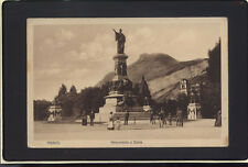 TRENTO (TN) MONUMENTO A DANTE BELLA ANIMAZIONE   VIAGGIATA ANNO 1915 B165