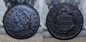 1812 Classic Head Large Cent 1c Great Details Porosity / Environmental Damage