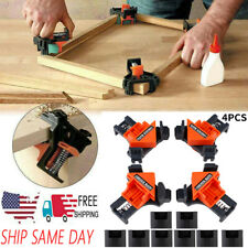 USA 4Pcs/Kit 90° Right Angle Clip Clamps Corner Holder Woodworking Hand Tools
