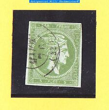 Griechenland-Königreich-Hermeskopf-5 Lepta-1861-grauolivgrün-wohl Mi.11IIa-gebr.