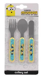 Minions 3 Piece Metal Cutlery Set - Kevin, Stuart & Bob - Re-usable