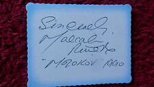 OPERA SINGER MALCOLM RIVERS AUTOGRAPH