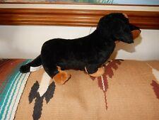 """TRU   DACHSHUND DACHSIE BLACK & TAN  DOG PLUSH 8.5"""" HI"""