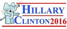 Funny Anti Hillary Clinton Campaign mocking magnet bumper sticker easy to remove