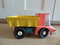 Vintage RUSSIAN USSR SOVIET NORMA LARGE PLASTIC DUMP TRUCK FLAT BED LORRY TOY