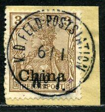 Kiautschou DP China Mi 15 b  Briefstück  Feldposstation No 1  aus Kaumi  60.-