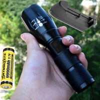 20000LM Tactical Zoomable Flashlight XML T6 LED Lamp Torch Light Camping Battery