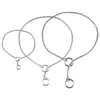 Chrome Dog Chain Collar P Leash Silver Gold Black Choke Show Collar M L XL XXL
