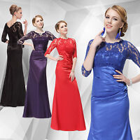 Dress Evening Party Long Formal Prom Gown Ball Bridesmaid Chiffon Wedding New UK
