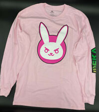 Overwatch D.va Bunny Pink Long Sleeve Men LARGE T-shirt Exo-Force Korean Army