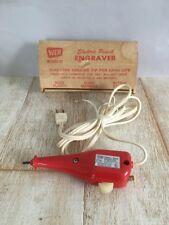 Vintage WEN Model 21 Electric Pencil Engraver Tungsten Carbide Tip Glass Metal
