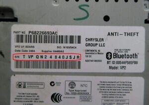 Radio CODE anti theft for CONTINENTAL Chrysler Jeep Cherokee Serial: TVPQN TQN