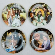 Bradford Gone With The Wind Collector Plates by Howard Rogers Lot of 4 1988-1989
