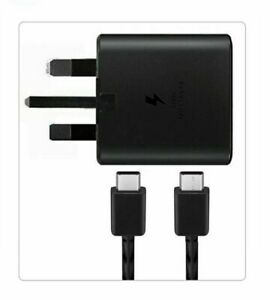 GENUINE SAMSUNG SUPPER FAST CHARGER & CABLE USB Type C To C Note20 S21 s20 plus