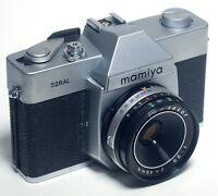 Mamiya 528AL 35mm SLR Vintage Film Camera Sekor f/2.8 48mm Lens JAPAN
