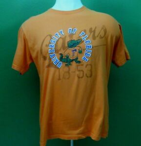 NCAA Florida Gators Orange Men's T-Shirt  X-Large Applique Lettering on Front