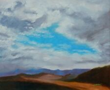 ORIGINAL ART OIL LANDSCAPE PAINTING SKY CLOUDS BLUE RIDGE MTNS USA SUE FURROW
