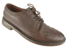 Florsheim Duckie Brown Barneys New York Long Wing Leather Oxford Shoes Sz 8.5 D