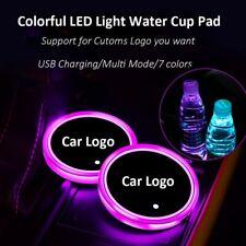 2Pcs LED Car Cup Holder Pad Mat Automobile Lichter für BMW Toyota Hyundai Audi