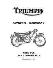 Triumph Owners Manual Book 1966 Tiger Cub T20 & 1966 Mountain Cub T20M