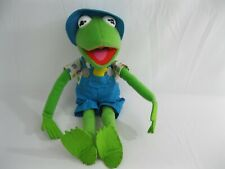 Kermit Frog Wearing Blue Overalls Plush Summer Duck Chick Muppets Kid Dimension