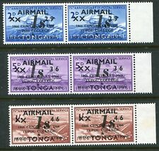 Tonga 1966 College x3 sideways second 'X' SG 171a-173a unmounted mint (cat. £27)