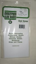 Evergreen Scale Models Sheet Styrene Plain Assortment Pkg. of 3 Item #9008